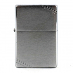 Зажигалка Zippo Vintage Slashes Brushed Chrome 230 Серебристая матовая