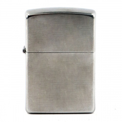 Зажигалка Zippo Classic с покрытием Brushed Chrome 28181 Серебристая матовая